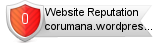 Corumana.wordpress.com website reputation