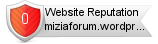 Miziaforum.wordpress.com website reputation