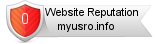 Myusro.info website reputation