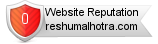 Rating for reshumalhotra.com
