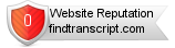 Findtranscript.com website reputation