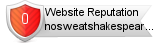 Nosweatshakespeare.com website reputation