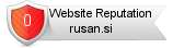 Rusan.si website reputation